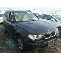 2004 X3 BMW WAGN 4DR/BLACK  CAR FOR PARTS