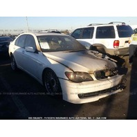 2008 Bmw B7 Alpina white left front burn for parts