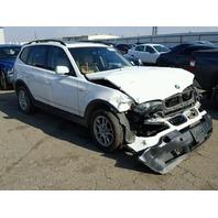 2005 X3 BMW WGN 4DR/WHITE FRONT DAMAGE