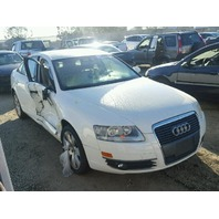 2006 A6 AUDI SDN 4DR/WHITE RIGHT SIDE DAMAGE