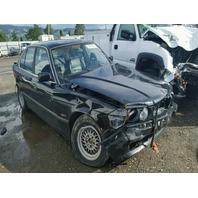 1995 525I BMW SDN 4DR/BLACK FRONT DAMAGE FOR PARTS