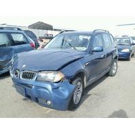2006 X3 BMW WGN 4DR/BLUE FRONT DAMAGE FOR PARTS