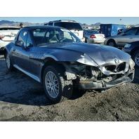 1999 Z3 BMW CONV 2DR/BLUE FRONT DAMAGED FOR PARTS