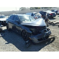 2008 528I BMW SDN 4DR/GREY FRONT DAMAGE FOR PARTS