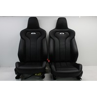 2015 2016 2017 BMW M3 F80 Black Merino Leather Front & Rear Complete Seat Set