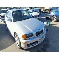 2001 325I BMW WGN 4DR/BLACK REAR DAMAGED  FOR PARTS