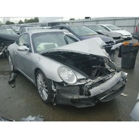 2005 Porsche 911 carrera s 3.8 tiptronic silver hit left front for parts