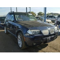 2007 X3 BMW WGN 4DR/BLUE REAR DAMGED FOR PARTS