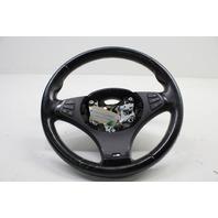 2004 2005 2006 2007 BMW X3 3 Spoke Leather Multifunction Steering Wheel