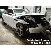 2006 BMW M5 White Front Damage For Parts