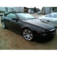2006 BMW 650i Convertible Black Damaged Right Front