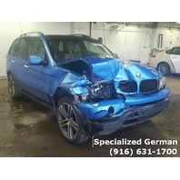 2002 BMW X5 Blue Front Damage For Parts