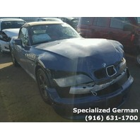2001 BMW Z3 Blue Convertible Front Damage For Parts
