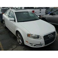 2007 AUDI A4 SDN 4DR/WHITE FOR PARTS