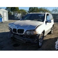 2005 X5 BMW WGN 4DR/SILVER FRONT DAMAGED FOR PARTS