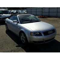 2005 Audi A4 Convertible 2 Dr Silver Theft For Parts