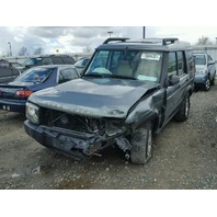 2004 LANDROVER DISCOVERY WGN 4DR/GREEN FRONT DAMAGED FOR PARTS