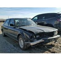 1993 740I BMW SDN 4DR/BLACK FRONT DAMAGED FOR PARTS