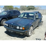 1993 525I BMW SDN 4DR/GREEN REAR DAMAGED FOR PARTS