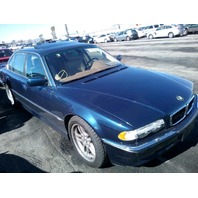 2001 740I BMW SDN 4DR/BLUE REAR DAMGD FOR PARTS