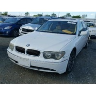 2003 745I BMW SDN 4DR/WHITE FOR PARTS