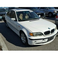 2002 325I BMW SDN 4DR/WHITE RAER DAMAGED FOR PARTS