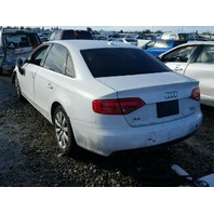 2009 AUDI A4 SDN 4DR/WHITE FRONT DAMAGED FOR PARTS