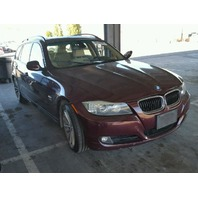 2009 BMW 328i wagon red 3.0 AWD damage left side for parts