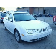 2001 JETTA VOLKSWAGEN SDN 4DR/WHITE FOR PARTS