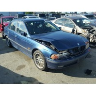 1999 540I BMW  SDN 4DR/BLUE FRONT DAMGED FOR PARTS