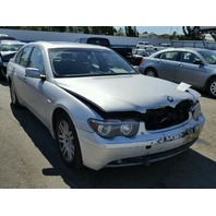 2003 BMW 745I Silver Sedan  4.4L Automatic For Parts