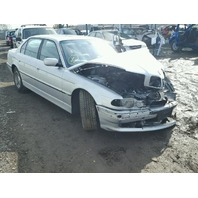 2001 Bmw 740il silver damage all around for parts
