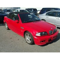 2001 330CI BMW CONV 2DR/RED FOR PARTS
