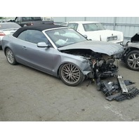 2010 Audi A5 Grey Damage front Convertible For Parts