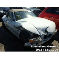 1998 BMW Z3 White Convertible Front Damage For Parts