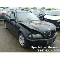 2004 BMW 325Xi Wagon Black Damaged Front For Parts