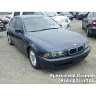 2003 BMW 530i Blue Sedan Damaged Rear For Parts