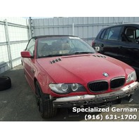 2005 BMW 330Ci Red Convertible Damaged Front For Parts