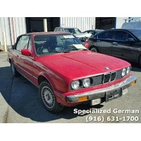 1987 BMW 325i Convertible Red For Parts