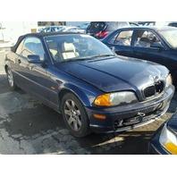 2001 325CI BMW CONV 2DR/BLUE FRONT DAMAGED FOR  PARTS