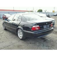2002 BMW 525I Black Sedan Damage Right For Parts