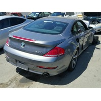 2010 650I BMW CPE 2DR/GREY FRONT DAMAGED FOR PARTS