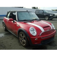 2008 Mini Cooper S 2dr Convertible Red damage left side for parts
