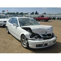 2001 330CI BMW SDN 4DR/WHITE FRONT DAMAGED FOR PARTS