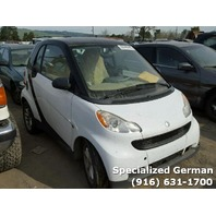 2009 Smart ForTwo Coupe White For Parts