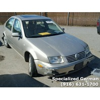 2004 Volkswagen Jetta Sedan Golf Rear Damage For Parts
