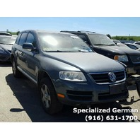 2004 Volkswagen Touareg Grey Front Damage For Parts
