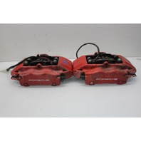 2002 Porsche 911 996 C4 Brembo Rear Caliper Set Pair Left Right Red