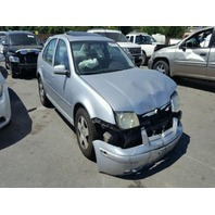 2002 VOLKSWAGEN JETTA SDN 4DR/SILVER FRONT DAMGED FOR PARTS