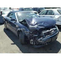 2004 A4 AUDI CONV 2DR/BLUE FRONT DAMGED FOR PARTS